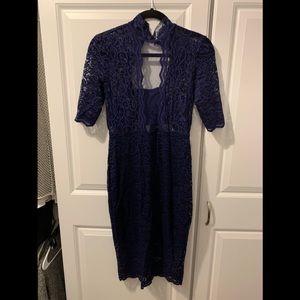 Express Navy blue lace dress. NWT.Sz 6.